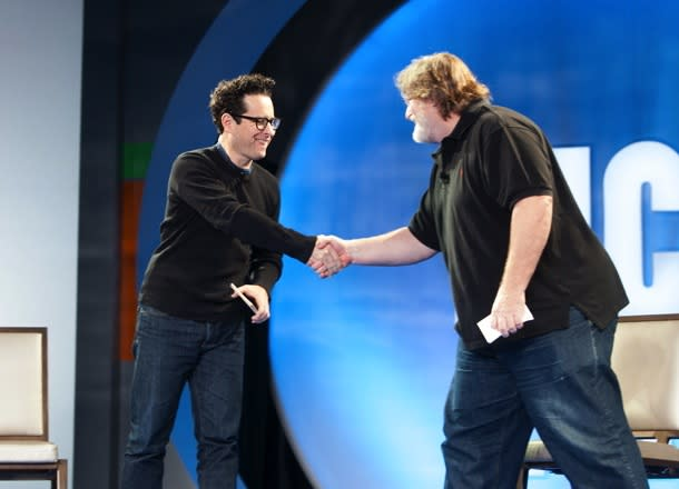 WATCH: J.J. Abrams Talks 'Portal' & 'Half-Life' With Valve President Gabe Newell
