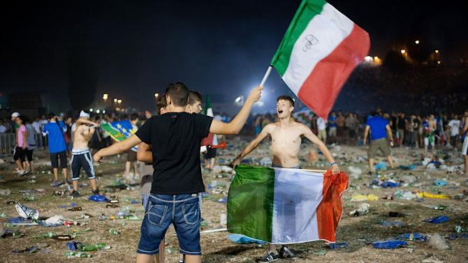 Italy Fans Watch The UEFA EURO 2012 Final Match Against Spain