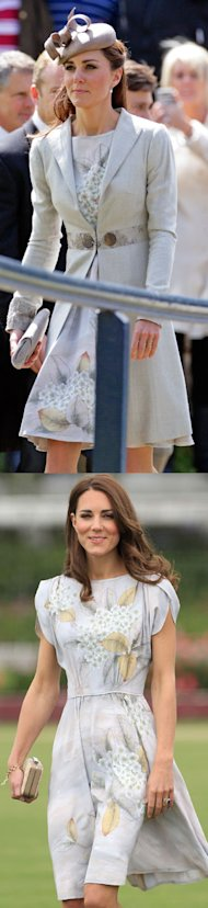 Kate Middleton recycles Jenny Packham dress and L.K Bennett heels at wedding of Prince William's cousin
