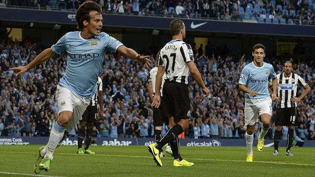 Premier League - Manchester City hit four to sink 10-man Newcastle