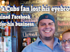 How a Cubs Fan Lost His Eyebrows, but Gained Facebook Fame for His Business