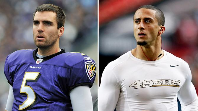 Joe Flacco and Colin Kaepernick