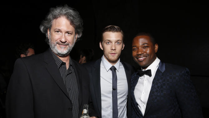 """Producer Nick Wechsler, Max Irons and Stephen Rider attend the after party for the LA premiere of """"The Host"""" at the ArcLight Hollywood on Tuesday, March 19, 2013 in Los Angeles. (Photo by Todd Williamson/Invision/AP)"""