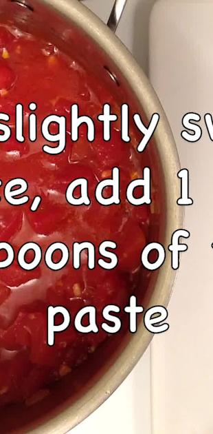 How to make tomato sauce in one minute