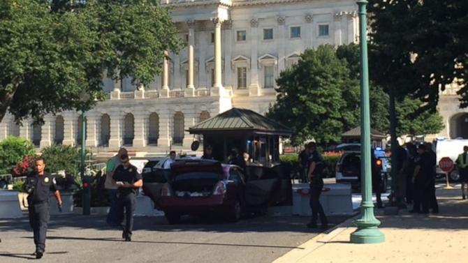 Car Crashes Into Barricade at US Capitol Building