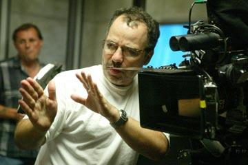 Director Jonathan Mostow on the set of Warner Brothers' Terminator 3: Rise of the Machines