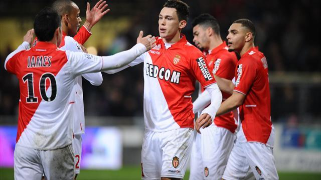 Ligue 1 - Monaco win at Toulouse to maintain pressure on PSG