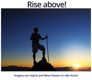 12 Ways To Visually Inspire Fans With Facebook Cover Images image rise above