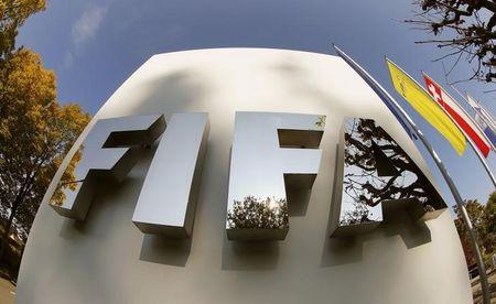 FIFA's logo is seen at its headquarters in Zurich