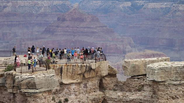 A man has plunged to his death off the South Rim at Grand Canyon National Park. Photo: Getty