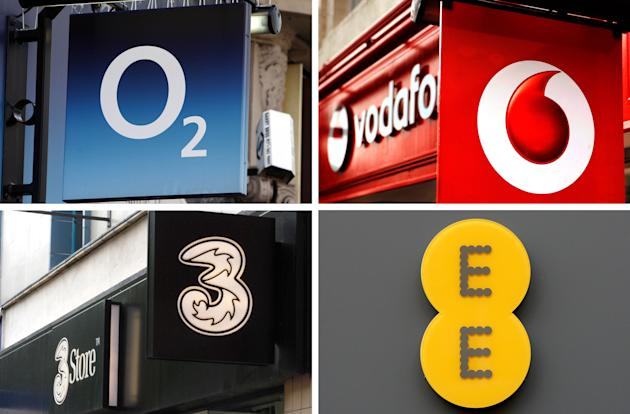 Four major firms today all won a piece of the mobile 4G pie (PA)