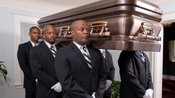 Professional Pallbearers Dance, March Caskets to the Grave ...