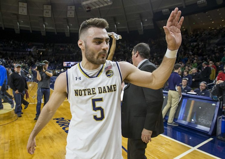 Matt Farrell is one of the biggest reasons Notre Dame is alone in first place in the ACC. (AP)