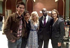 Wyclef Jean and the cast of Nashville | Photo Credits: Wyclef Jean/Twitter