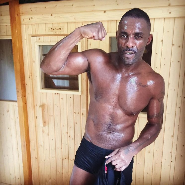 The actor has been training hard for his first kickboxing fight and it shows!
