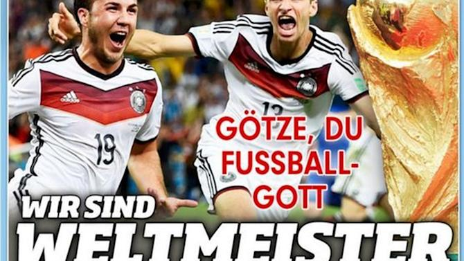 World Cup - German press review: 'Goetze, you footballing god'