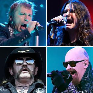 Black Sabbath, Iron Maiden, Judas Priest and Motorhead