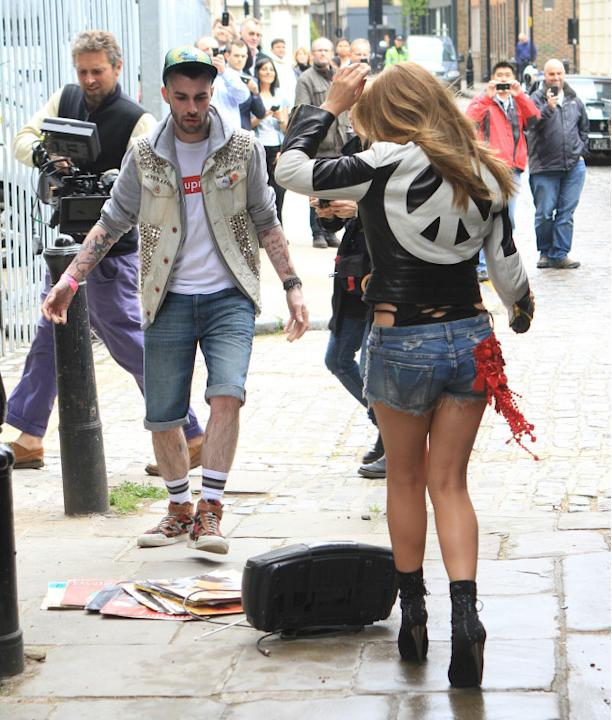 Kylie Minogue shoots her new music video in East London, UK