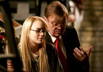 Lindsay Lohan and Garrison Keillor in Picturehouse's A Prairie Home Companion
