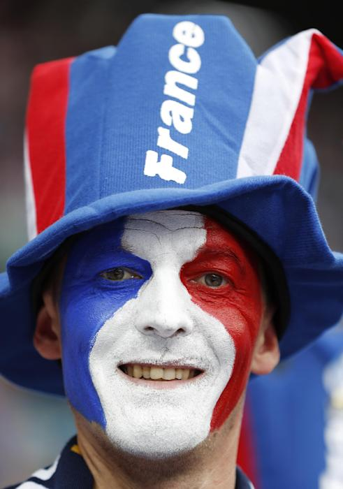 France fan before the match