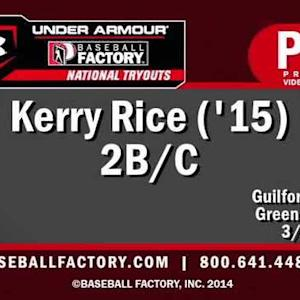 Kerry Rice - Baseball Factory 2014
