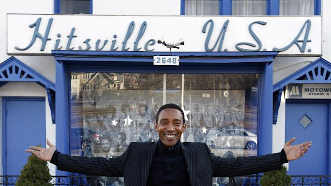 "Charles Randolph Wright, director of ""Motown: The Musical"" poses for a photo outside the Motown Museum in Detroit, Tuesday, Nov. 27, 2012.  ""Motown: The Musical"" begins its run of preview performances March 11 ahead of the official opening on April 14 at New York's Lunt-Fontanne Theatre. (AP Photo/Paul Sancya)"