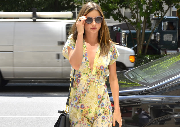 Miranda Kerr in a summery dress