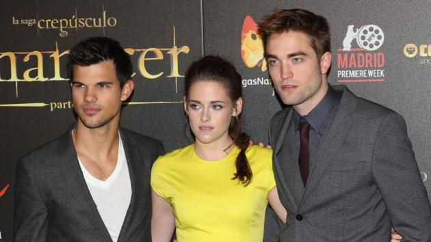 Kristen Stewart, Robert Pattinson and Taylor Lautner attend 'The Twilight Saga: Breaking Dawn - Part 2' photocall at Kinepolis Cinema on November 15, 2012 in Madrid, Spain -- Getty Premium
