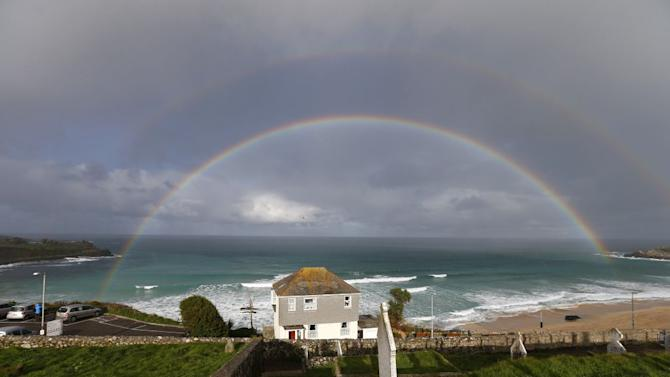 Travel rainbow Cornwall St Ives