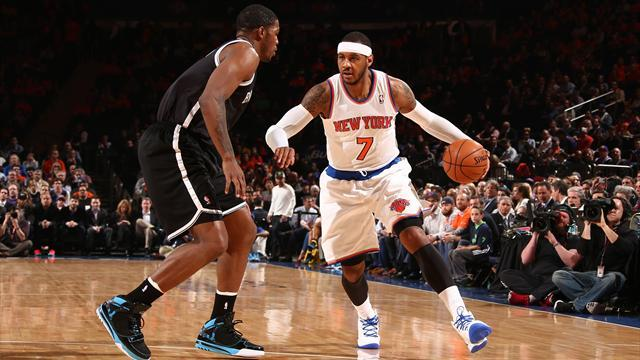 NBA - Knicks beat Nets in New York derby to keep up playoff drive