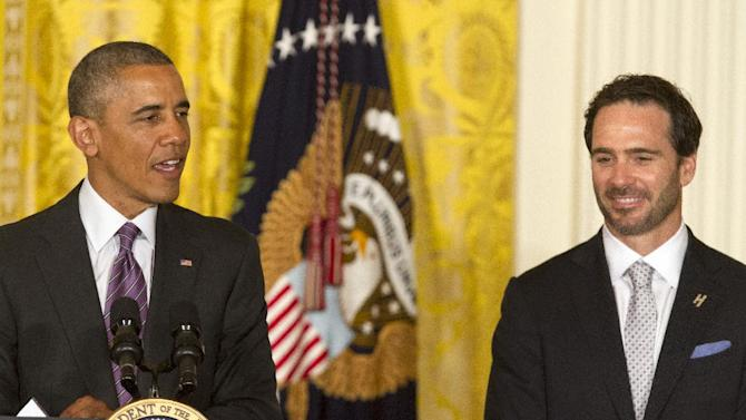 Obama honors NASCAR's Johnson for 6th Sprint Cup