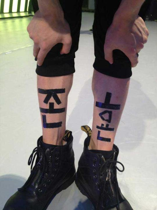 SHINee's Jonghyun Gets His Name Taped On His Legs in a Prank by Key