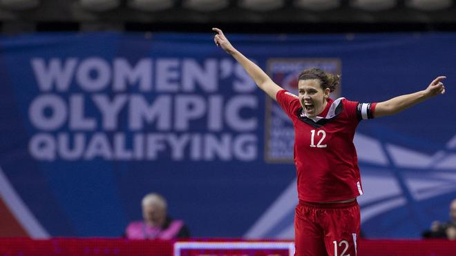 Christine Sinclair #12 Of Canada Celebrates Getty Images