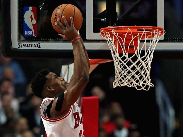 Jimmy Butler of the Chicago Bulls will be sidelined for up to six weeks with a sprained left elbow, the struggling NBA club said