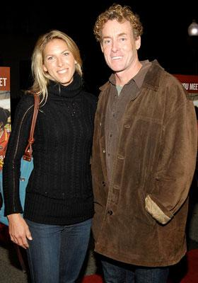 Nichole Kessler and John C. McGinley at the Los Angeles premiere of THINKFilm's 10 Items or Less