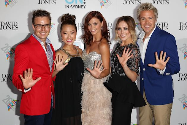 Cast members of Hi-5 arrive at the 26th Annual ARIA Awards 2012 at the Sydney Entertainment Centre on November 29, 2012 in Sydney, Australia. (Photo by Don Arnold/WireImage)