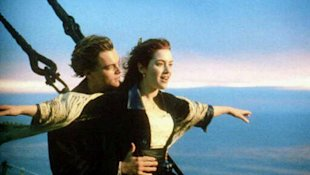 Leonardo DiCaprio and Kate Winslet in 'Titanic'. Photo: Paramount Pictures