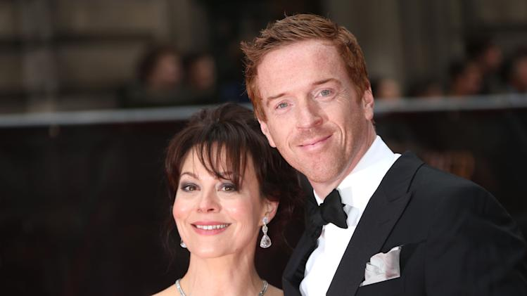 Helen McCrory and Damien Lewis seen at the Olivier Awards 2013 at the Royal opera House in London on Sunday, April 28th, 2013. (Photo by Joel Ryan/Invision/AP)