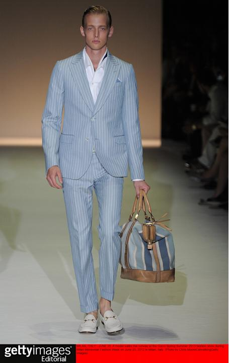 Gucci - Mens Spring Summer 2013 Runway - Milan Menswear Fashion Week