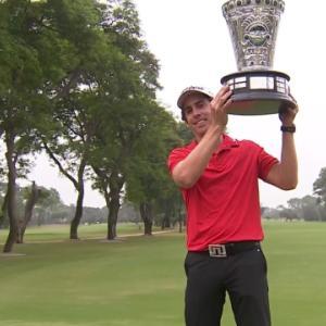 Rodolfo Cazaubon wins on first playoff hole at the Lexus Peru Open