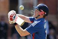England's Eoin Morgan avoids a ball during the first One day International cricket match between England and Australia at Lord's cricket ground