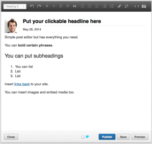 How I Got My Post Featured On LinkedIn's Publishing Platform image linkedin post editor 600x569