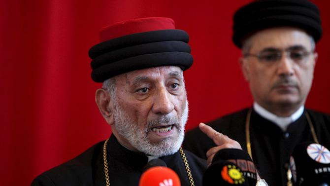 Mar Gewargis Sliwa speaks after he was elected as Catholicos Patriarch of the Assyrian Church of the East by Metropolitan of Iraq in Arbil