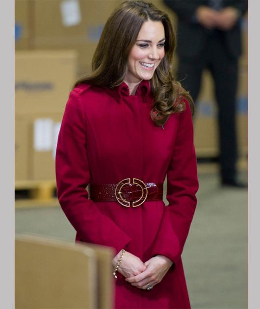 "Before you start shopping, hear what fashion student Hanna Hanhela who's studying Fashion Atelier at University for the Creative Arts has to say about the Duchess' red coat: ""We've seen this military"