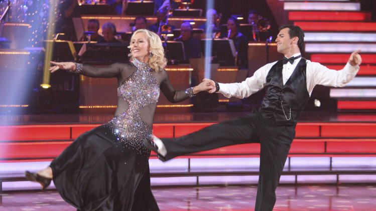 "Martina Navratilova  and Tony Dovolani perform on ""Dancing With the Stars."""