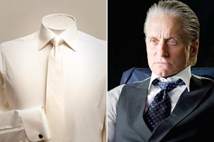 Gordon Gekko's white silk and cotton shirt sells for $450.