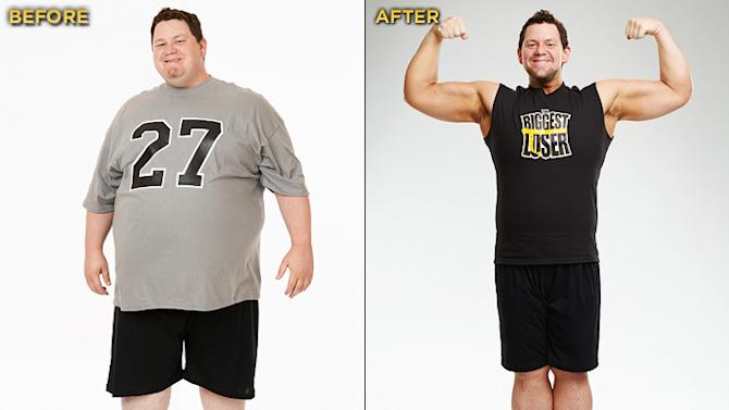 """Biggest Loser"" Season 12's Vinny Hickerson started the competition at 426 lbs. and lost a total of 184 lbs."