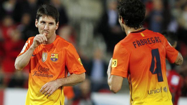 Spanish Liga - Messi double eclispes Pele mark