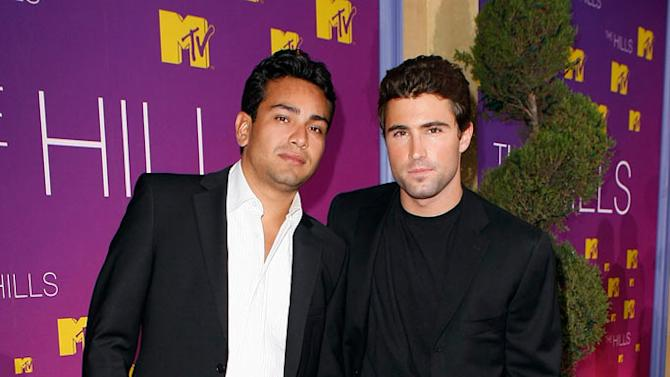 Frankie Delgado and Brody Jenner at the Live Season 3 Hills finale party.