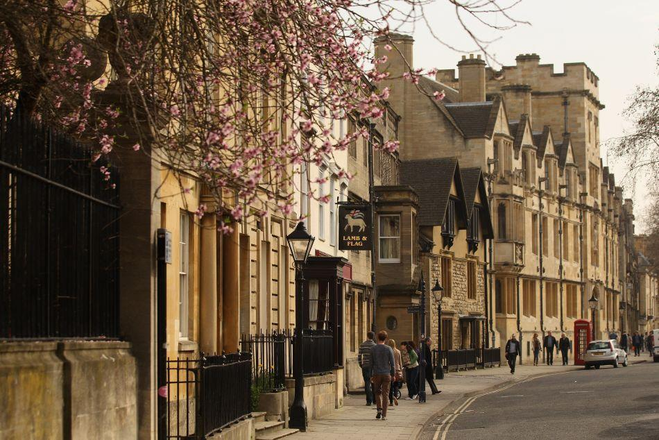 Houses on St Giles' in Oxford